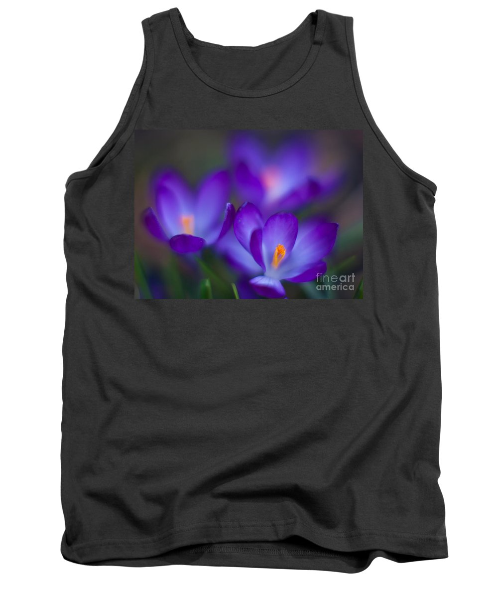 Crocus Tank Top featuring the photograph Crocus Blooms by Mike Reid