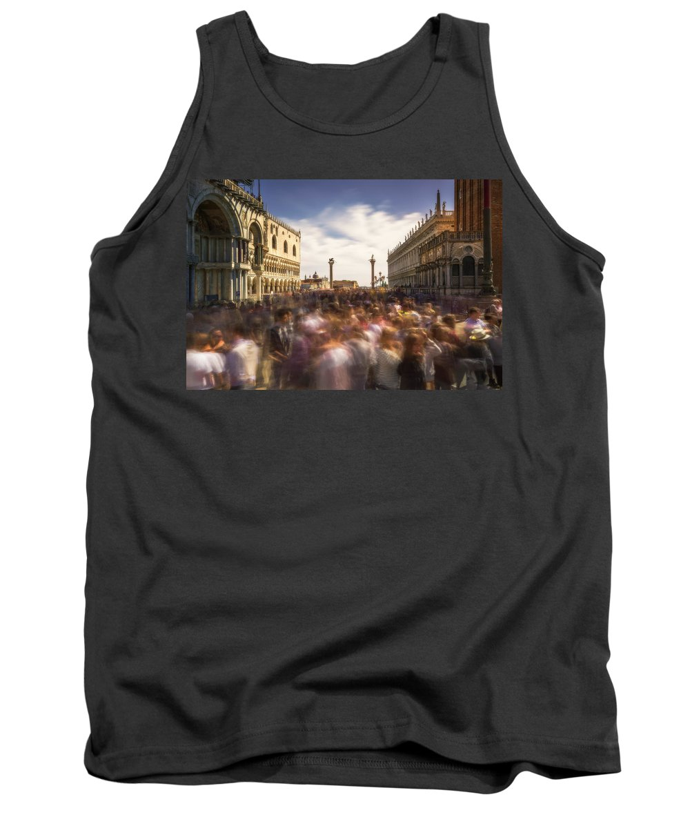 Crowd Tank Top featuring the photograph Crowded On St. Mark's Square by Ludwig Riml
