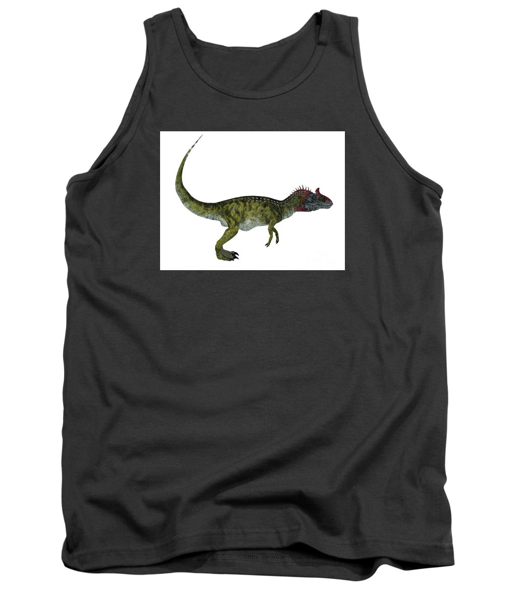 Cryolophosaurus Tank Top featuring the painting Cryolophosaurus Side Profile by Corey Ford
