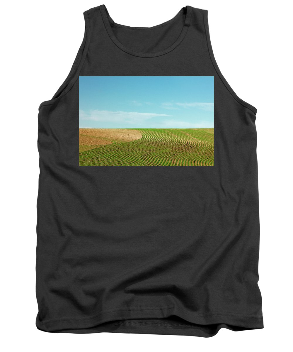 Big Sandy Tank Top featuring the photograph Curvy Rows by Todd Klassy