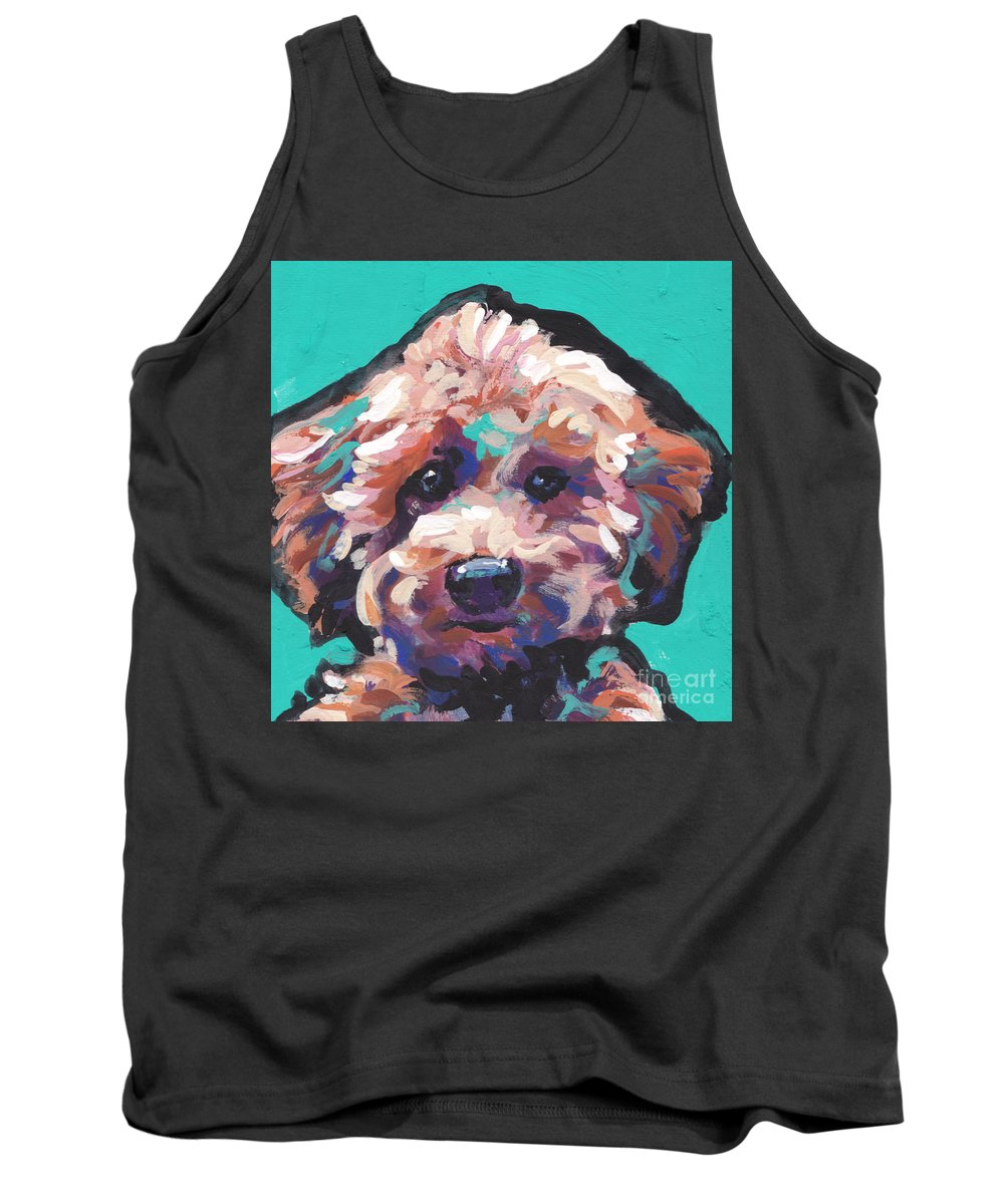 Poodle Tank Top featuring the painting Cutey Poo by Lea S