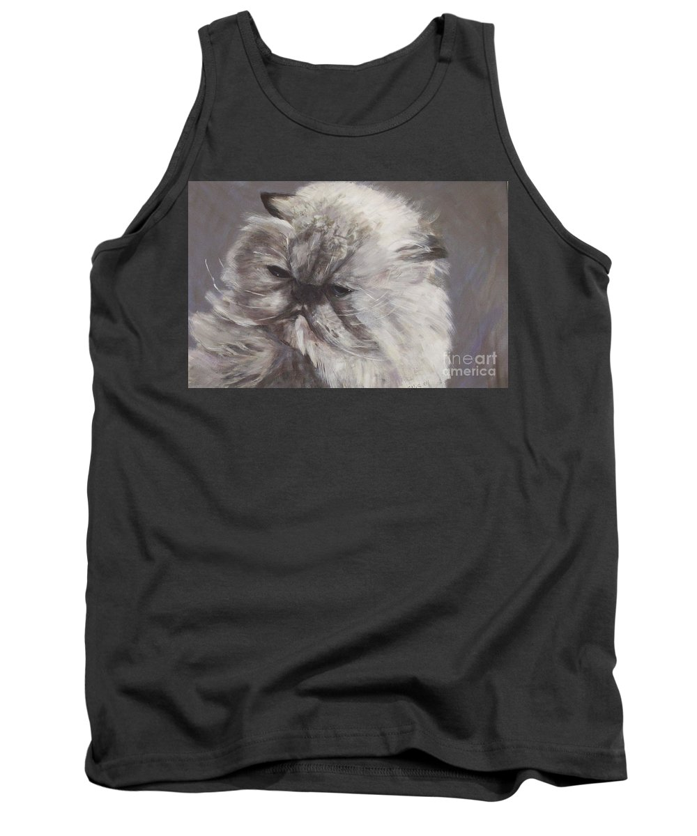 Himalayan Cat Tank Top featuring the painting Cynthia by Elizabeth Ellis
