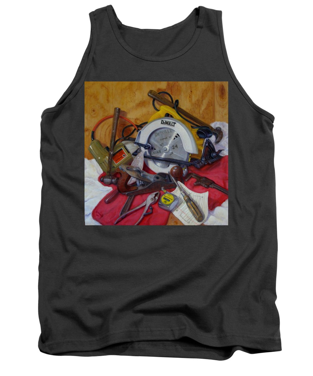 Realism Tank Top featuring the painting D. I. Y. 2  by Donelli DiMaria