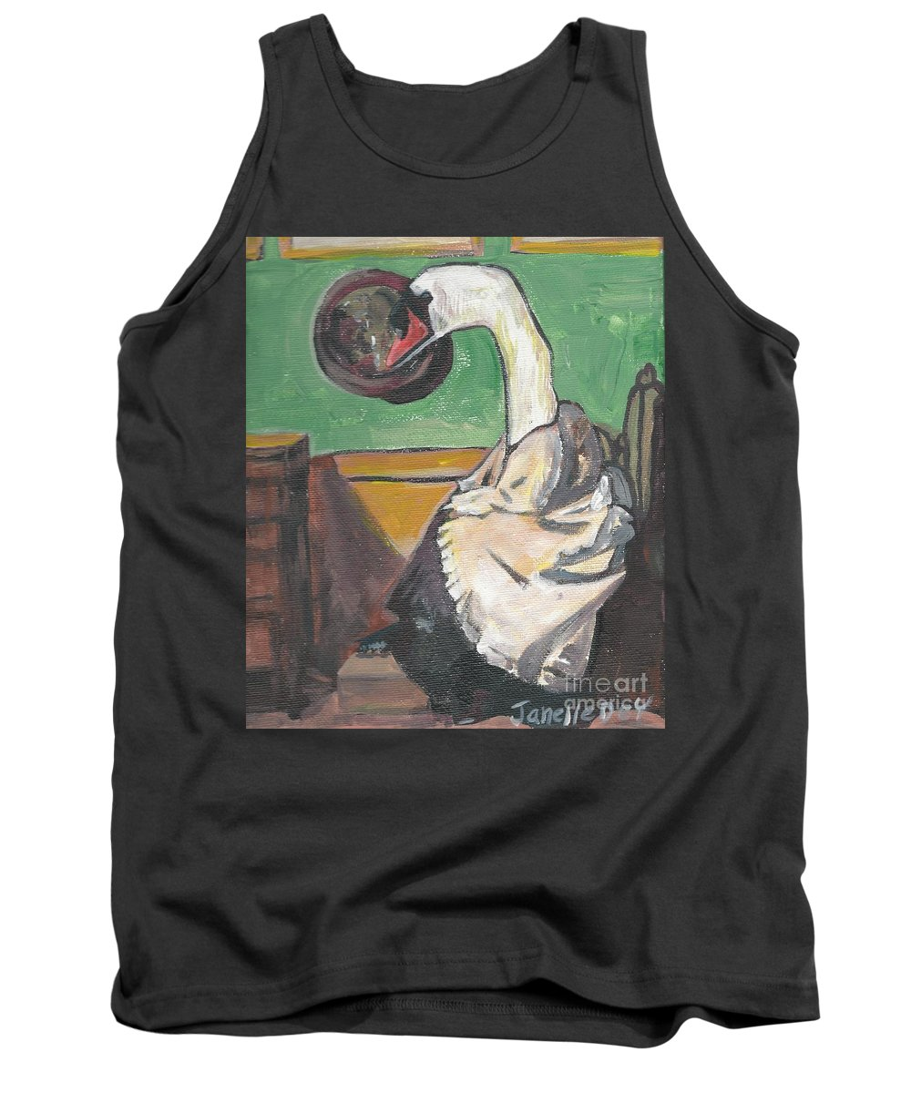 Swan Painting Tank Top featuring the painting Dada by Janelle Dey