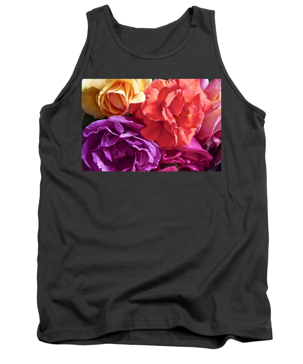 Rose Tank Top featuring the photograph Dad's Roses by Gwyn Newcombe