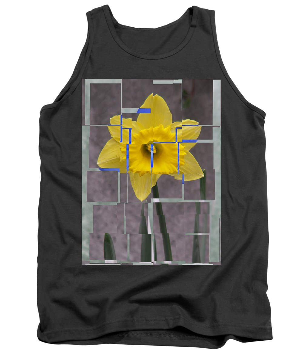 Flower Tank Top featuring the digital art Daffodil 1 by Tim Allen