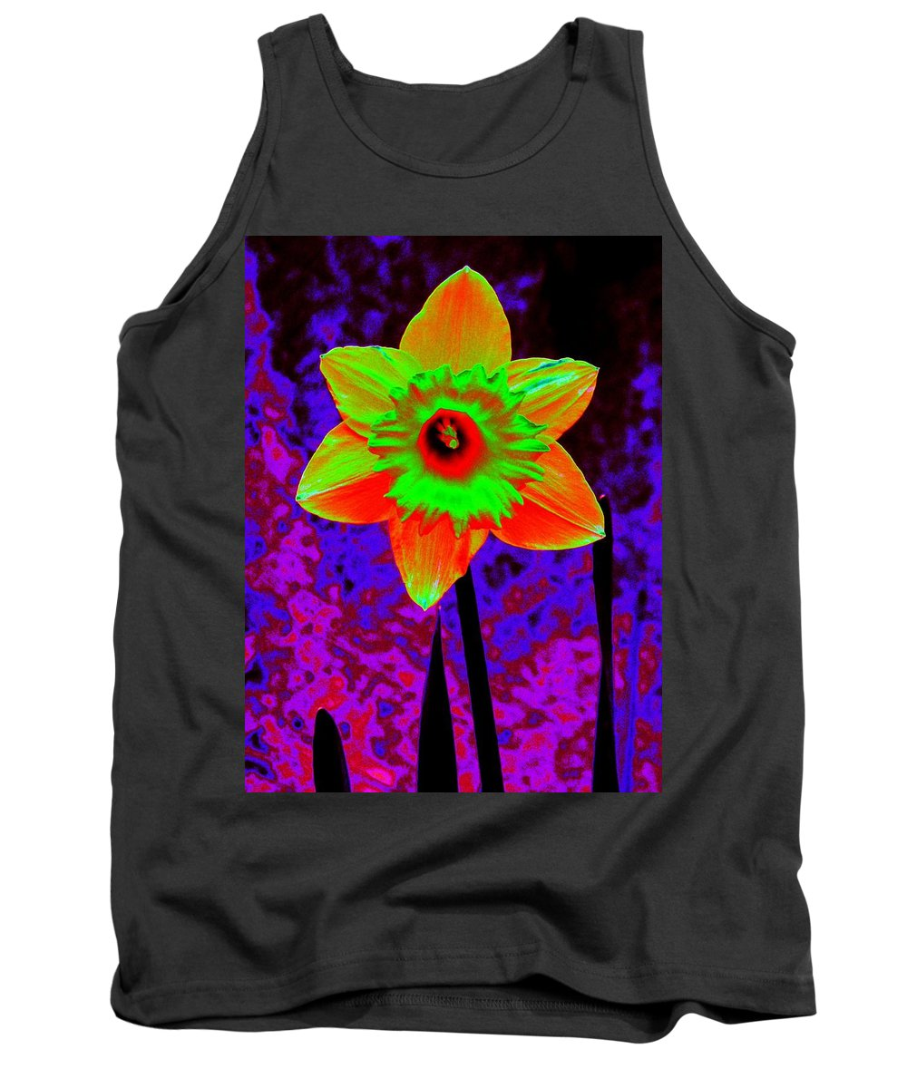 Daffodil Tank Top featuring the photograph Daffodil 2 by Tim Allen