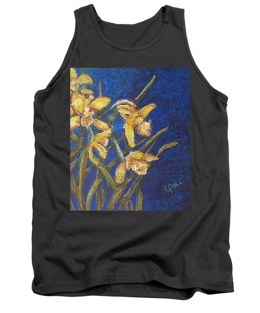 Daffodils Tank Top featuring the painting Daffodils by Laurie Paci