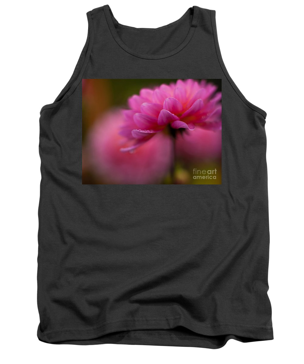Dahlia Tank Top featuring the photograph Dahlia Drops by Mike Reid