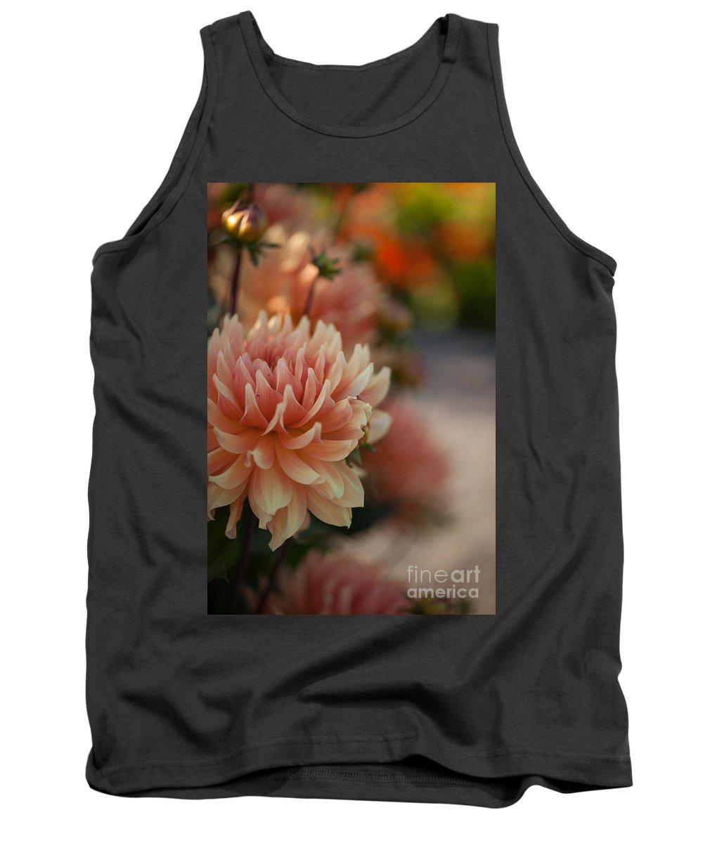 Flower Tank Top featuring the photograph Dahlias Season by Mike Reid