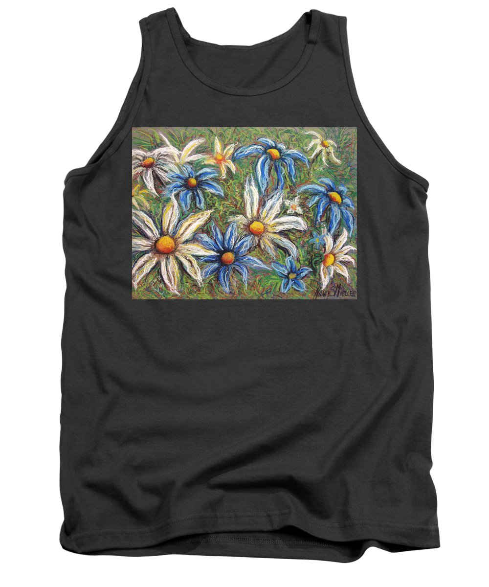 Daisies Tank Top featuring the pastel Daisies Pastel by Nancy Mueller