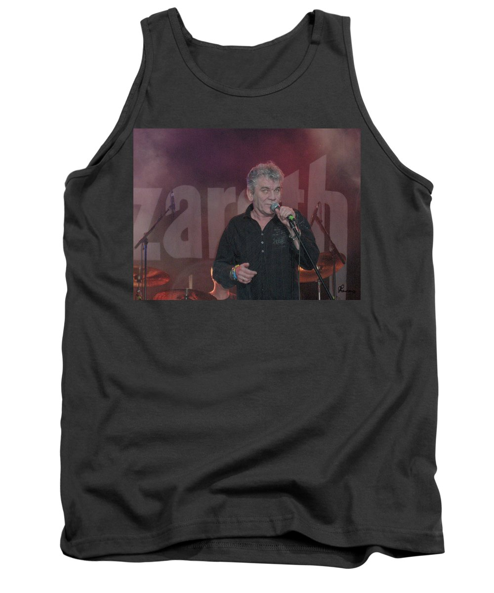 Dan Mcafferty Nazareth Band Music Classic Rock And Roll Singer Tank Top featuring the photograph Dan Mccafferty by Andrea Lawrence