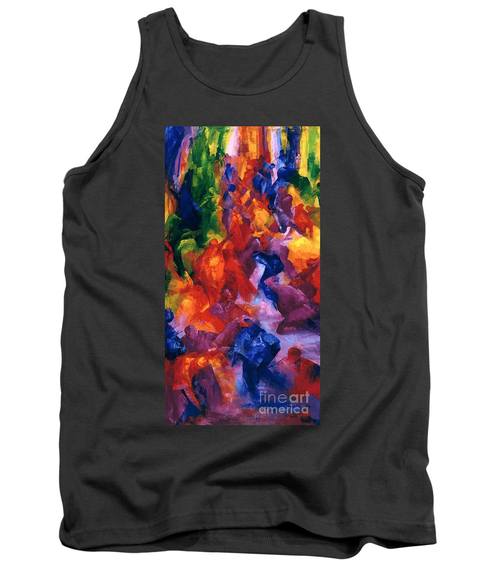 Dance 2 Tank Top featuring the painting Dance by Bayo Iribhogbe