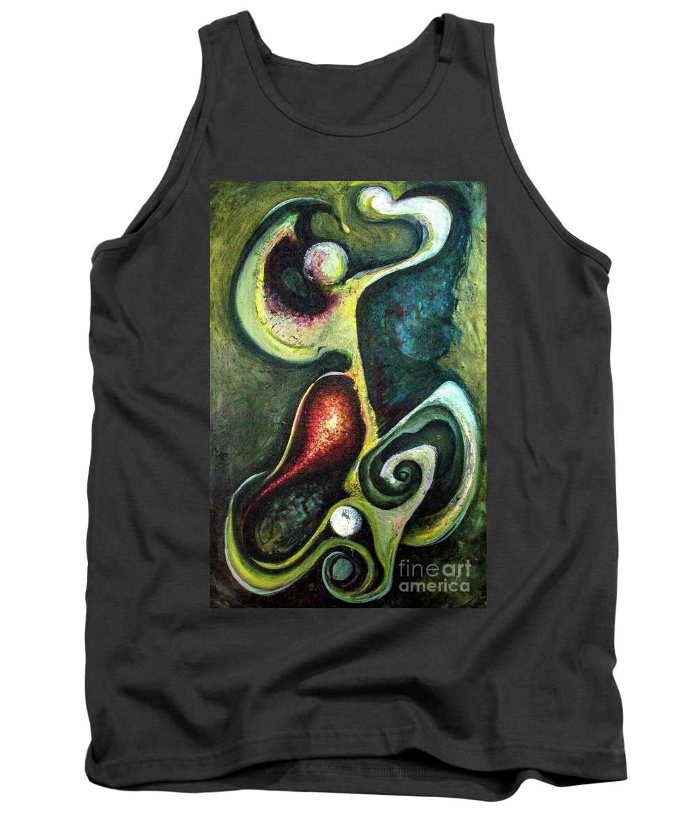Abstract Tank Top featuring the painting Dancers by Heather Joi