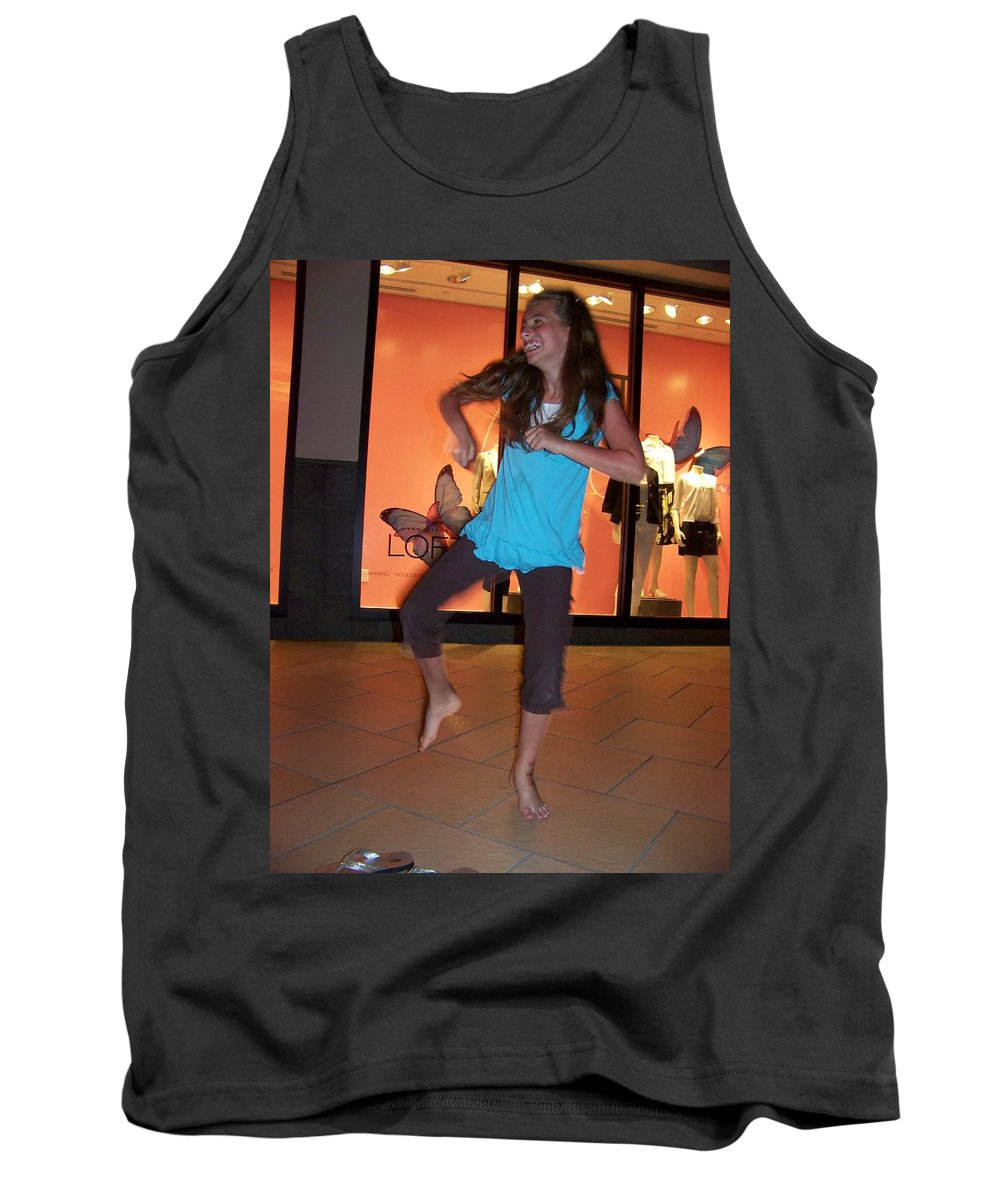 Girl Tank Top featuring the photograph Dancing Young Girl by Laurie Paci