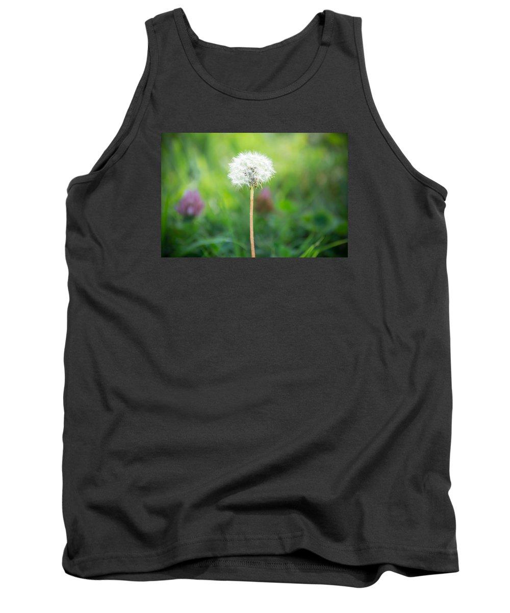 Flower Tank Top featuring the photograph Dandalion by Deborah Moran