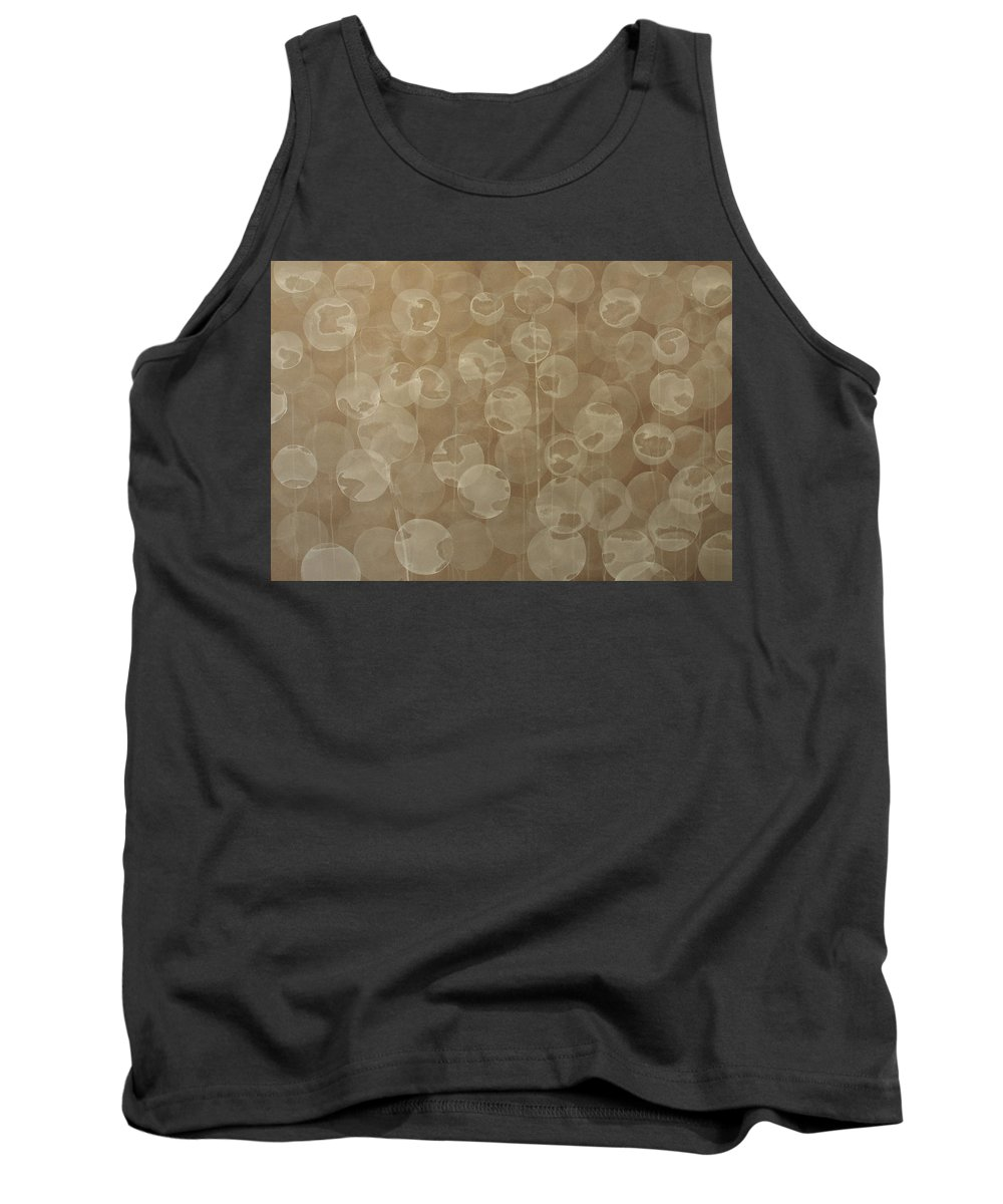 Abstract Tank Top featuring the painting Dandelion by Jitka Anlaufova