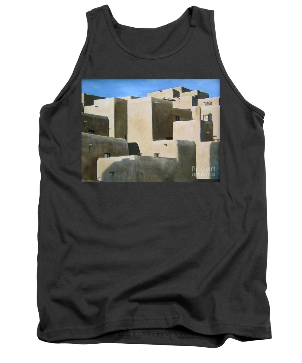 Art Tank Top featuring the painting Dark Shadows by Mary Rogers