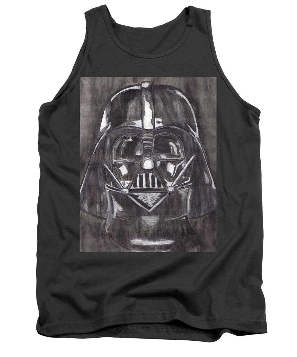 Movies Tank Top featuring the painting Black And White Star by Jill Christensen