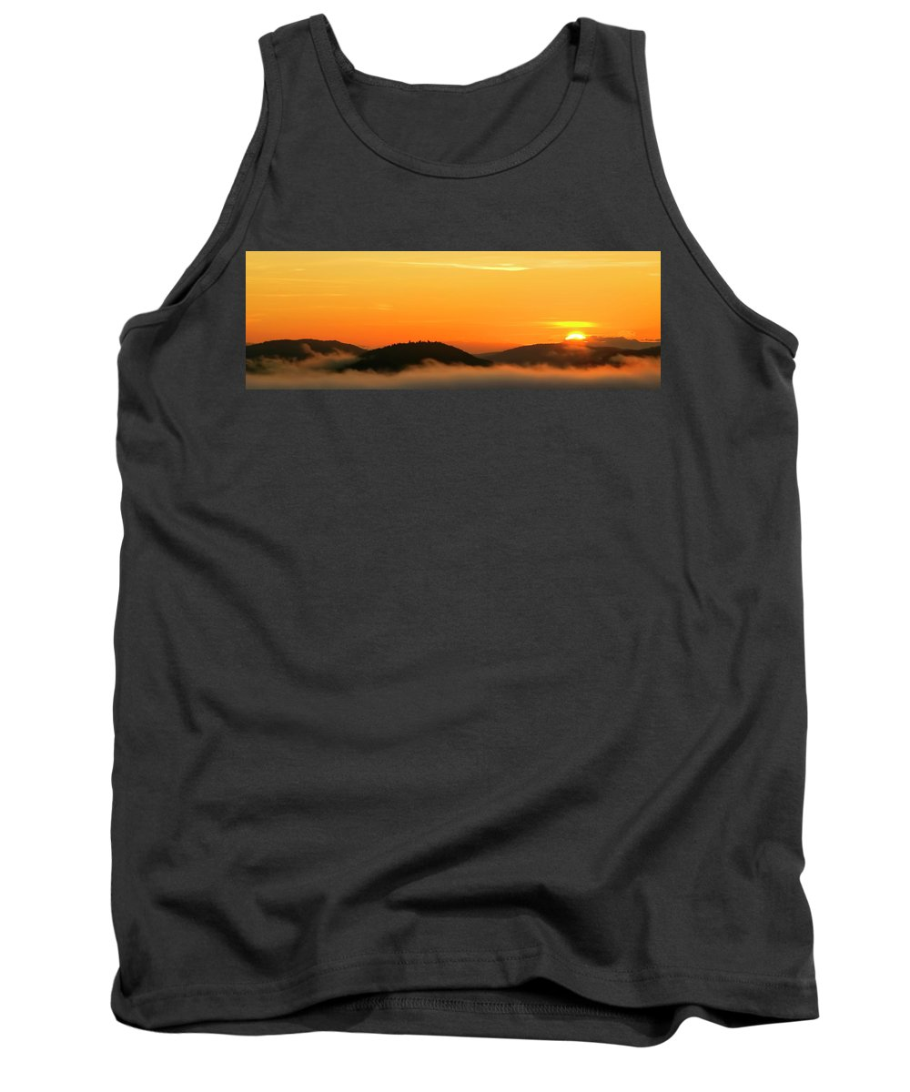 Adirondack Sunrise Tank Top featuring the photograph Dawn Over Clouds by Tony Beaver