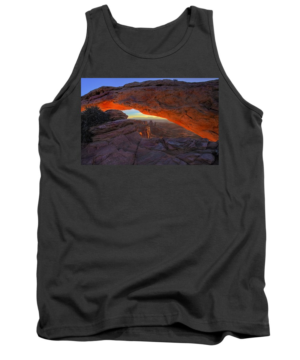 Mesa Arch Tank Top featuring the photograph Dawns Early Light by Mike Dawson