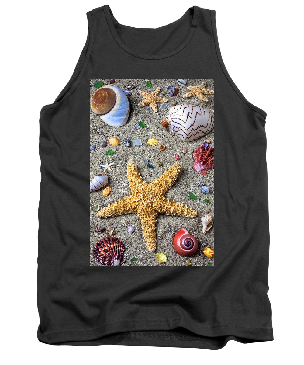 Starfish Tank Top featuring the photograph Day At The Beach by Garry Gay