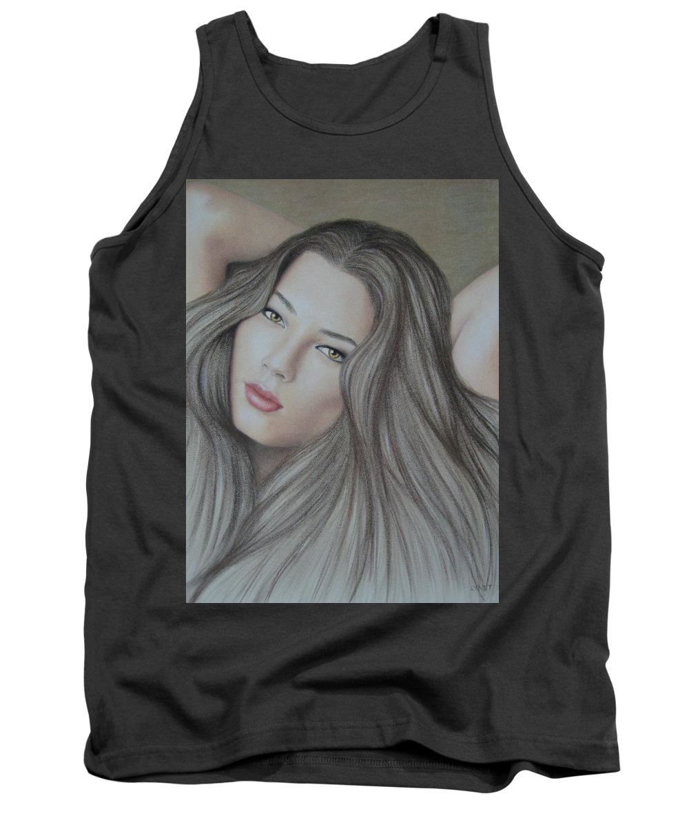 Woman Tank Top featuring the painting Daydreaming by Lynet McDonald