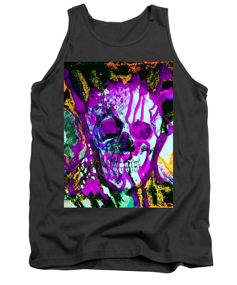 Tank Top featuring the painting Deathstudy-1 by Katerina Stamatelos