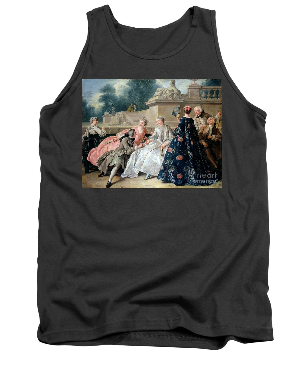 Declaration Of Love Tank Top featuring the painting Declaration Of Love by Jean Francois de Troy