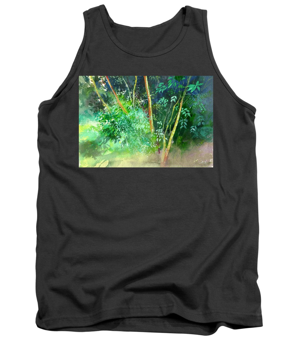 Water Color Tank Top featuring the painting Deep by Anil Nene