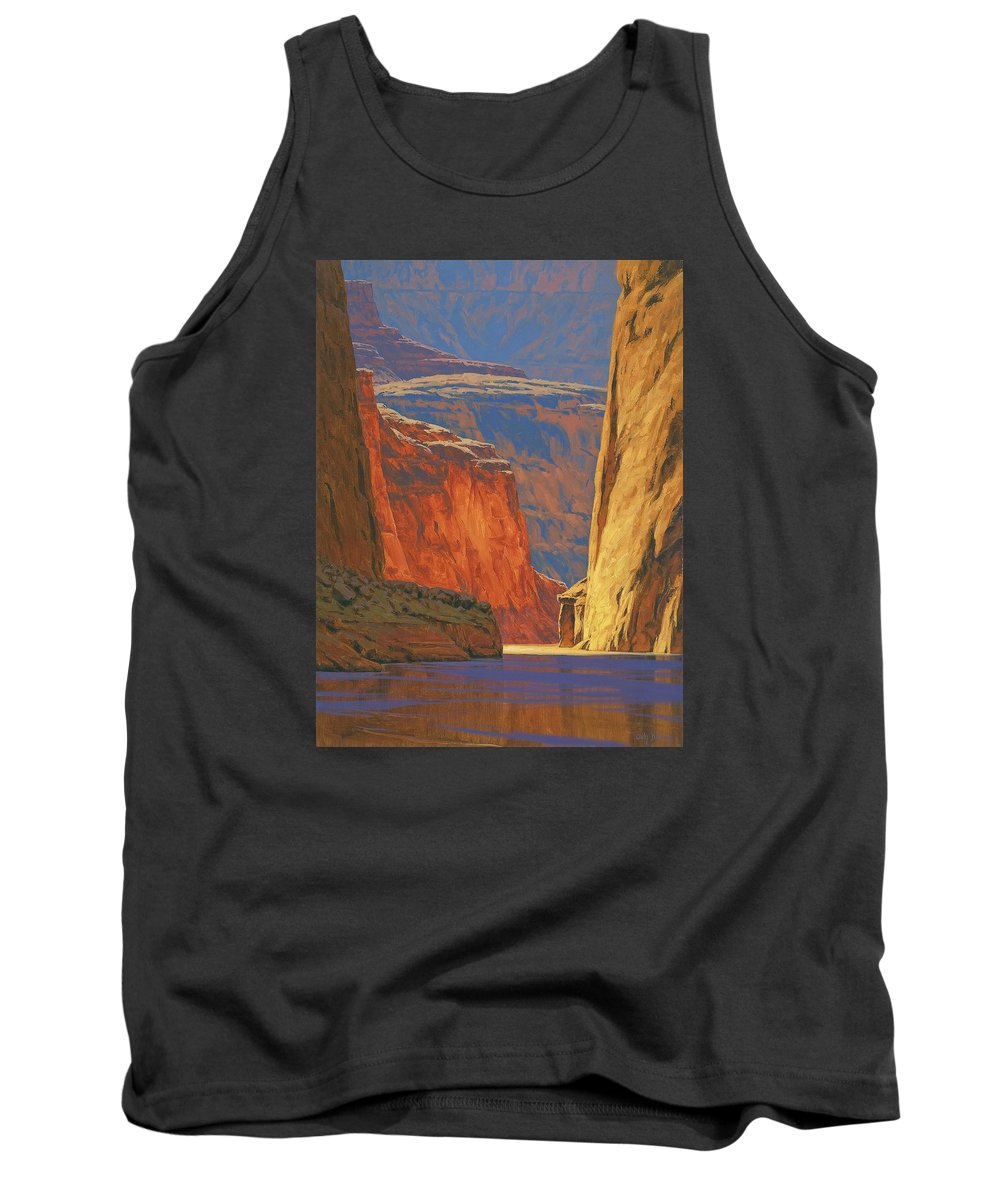 Grand Canyon Tank Top featuring the painting Deep In The Canyon by Cody DeLong