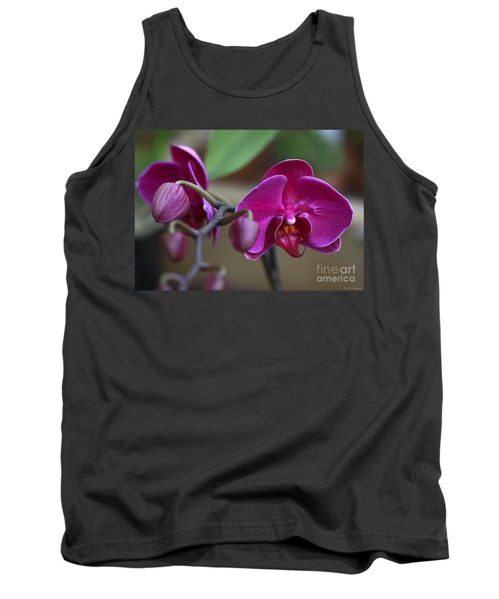Flower Tank Top featuring the photograph Deep Pink by Deborah Benoit