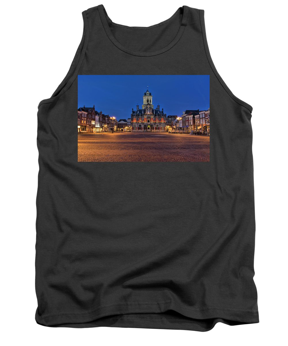 Delft Tank Top featuring the photograph Delft Blue by Charlene van Koesveld