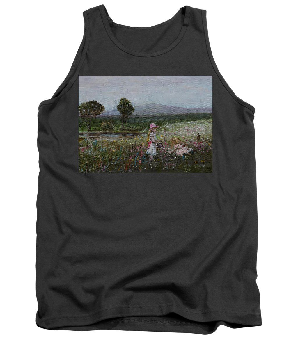 Impressionist Tank Top featuring the painting Delights Of Spring - Lmj by Ruth Kamenev