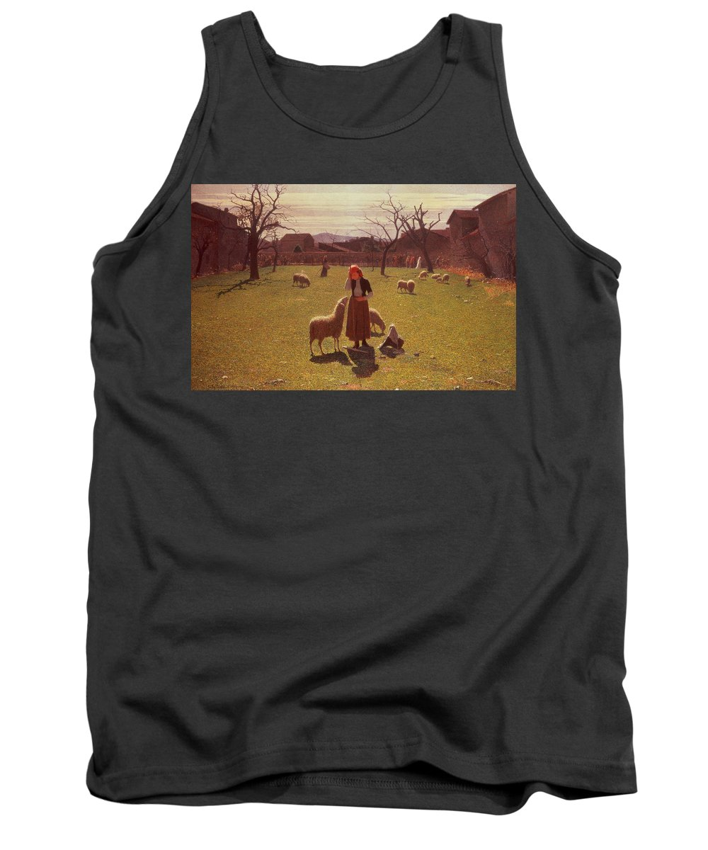 Deluded Tank Top featuring the painting Deluded Hopes by Giuseppe Pellizza da Volpedo