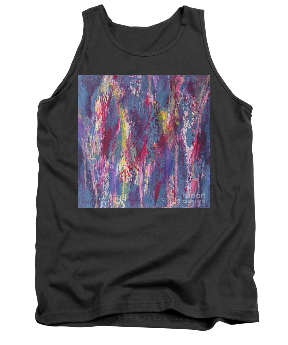 Poured Paint Tank Top featuring the painting Delve Deep 2 by Mini Arora