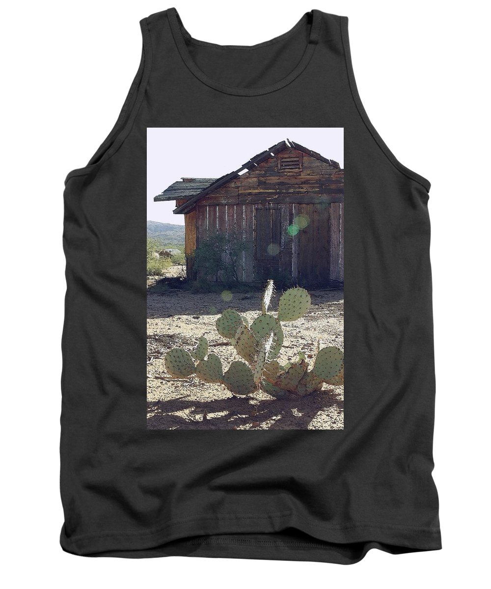 Cabin Tank Top featuring the photograph Desert Home by Nelson Strong