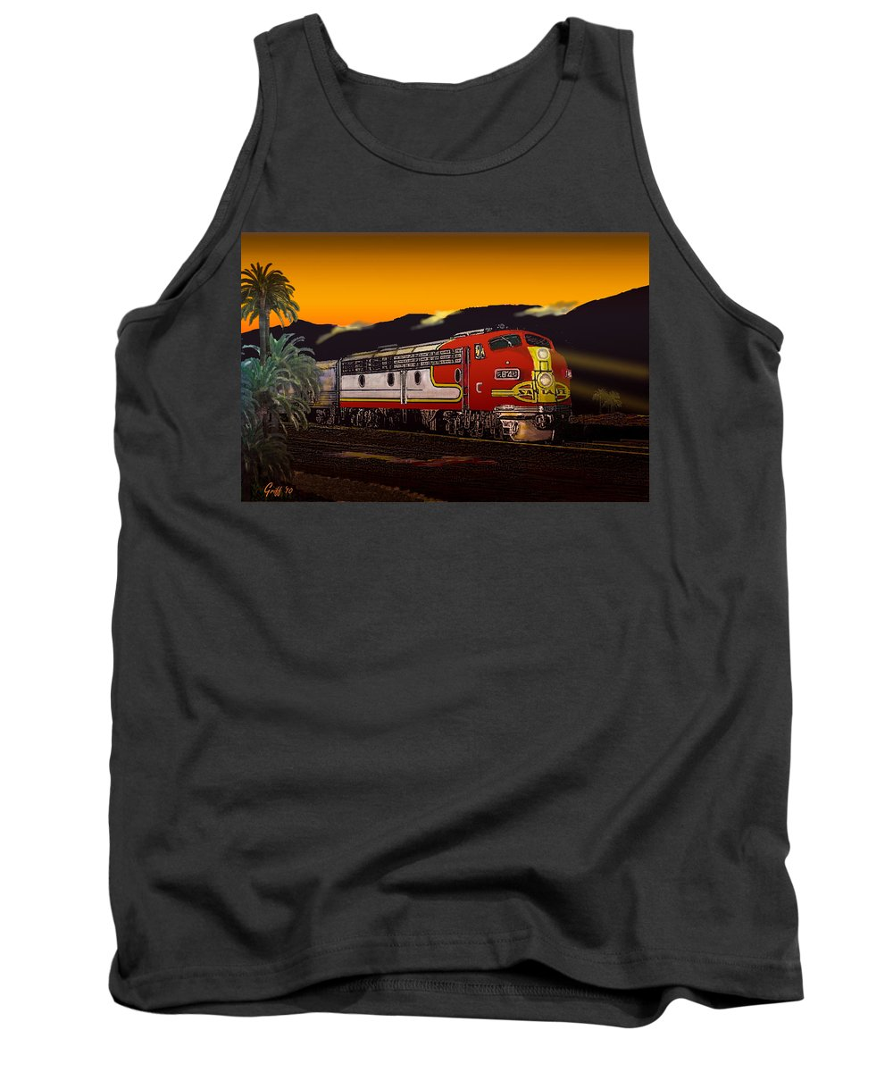 Trains Tank Top featuring the digital art Desert Palms by J Griff Griffin