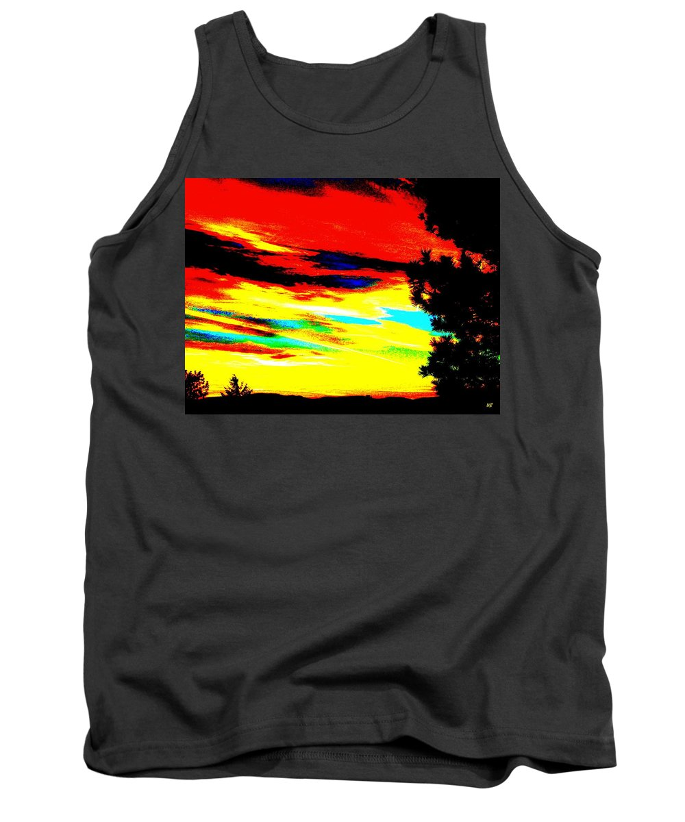 Abstract Tank Top featuring the digital art Desert Sky by Will Borden