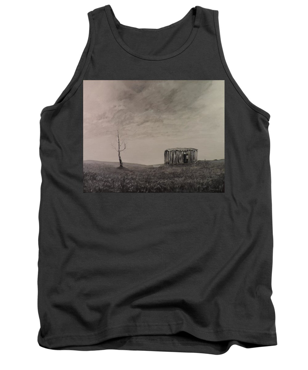 Desolate Tank Top featuring the painting Desolate Bathtub by Toby Daniel Jones
