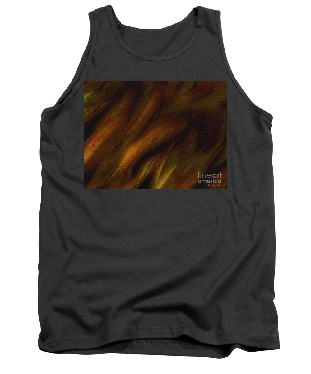 Auburn Tank Top featuring the painting Detail - Pre-raphaelite Tresses by RC DeWinter