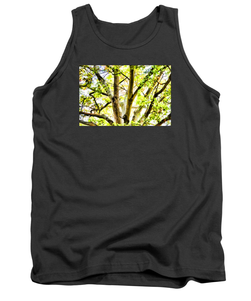 Detailed Tree Branches Tank Top featuring the painting Detailed Tree Branches 2 by Jeelan Clark