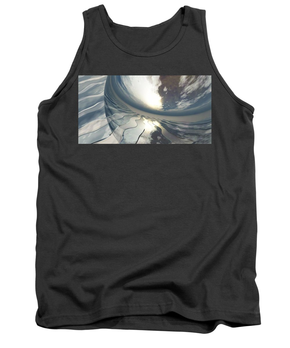 Fantasy Tank Top featuring the digital art Deviating World by Richard Rizzo