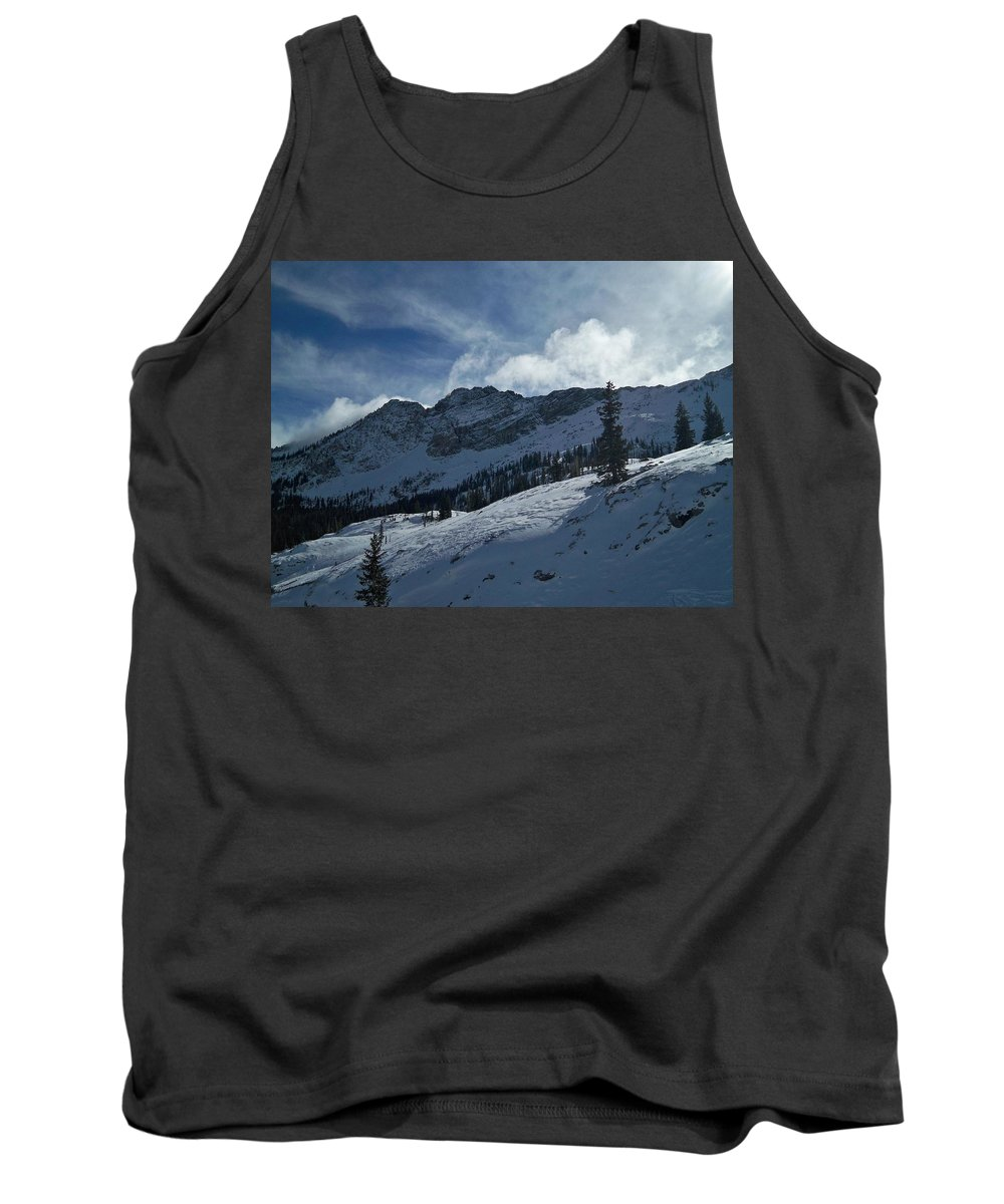 Ski Tank Top featuring the photograph Devils Castle Morning Light by Michael Cuozzo