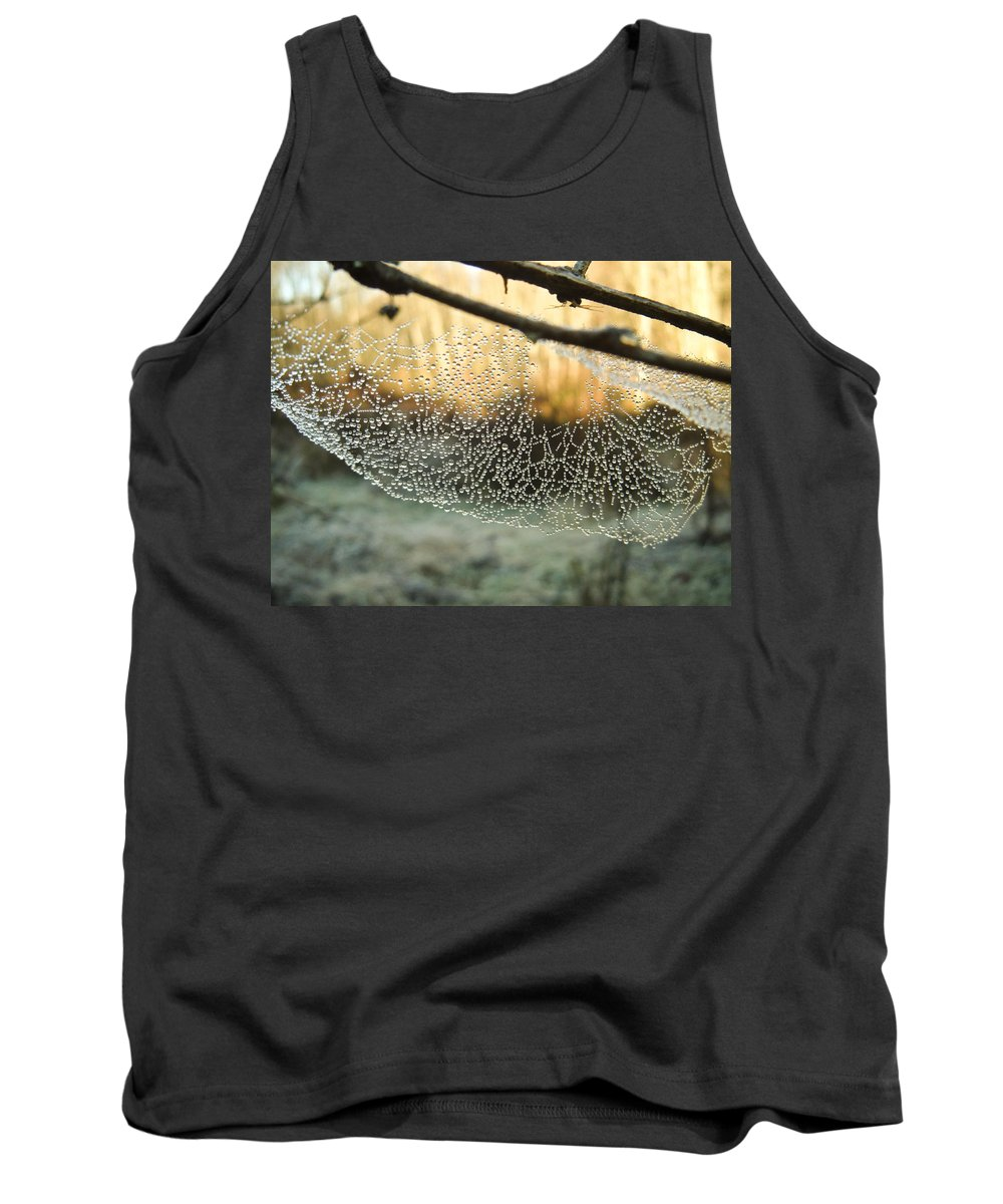 Spider Tank Top featuring the photograph Dew by Herman Robert