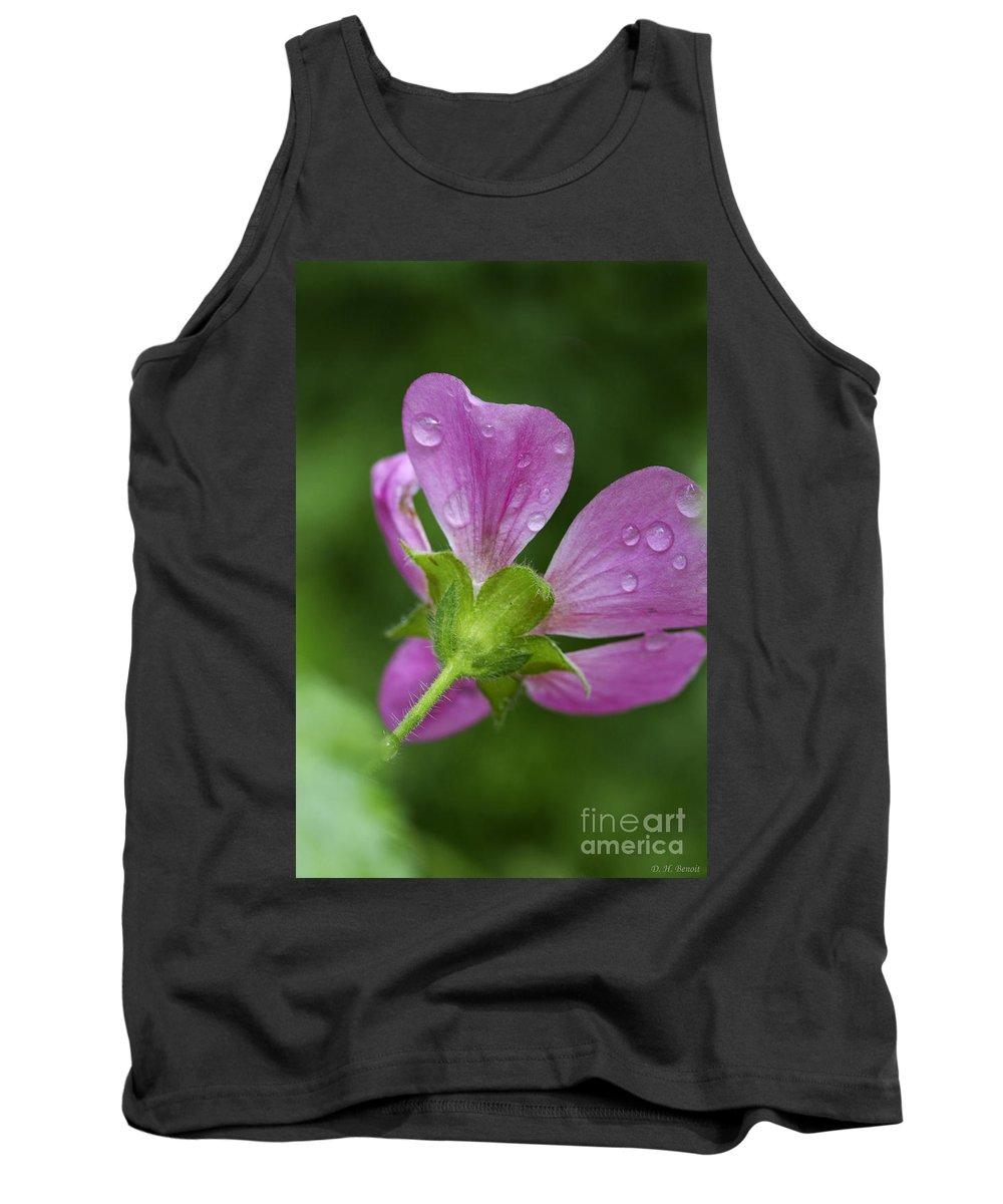 Flower Tank Top featuring the photograph Dew Kisses by Deborah Benoit