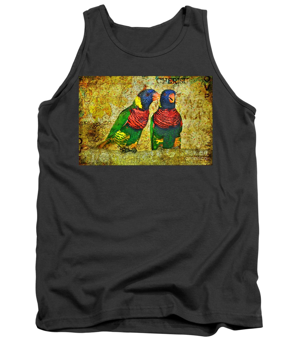 Lorikeet Greeting Tank Top featuring the photograph Did I Tell You How Much I Love You by Olga Hamilton