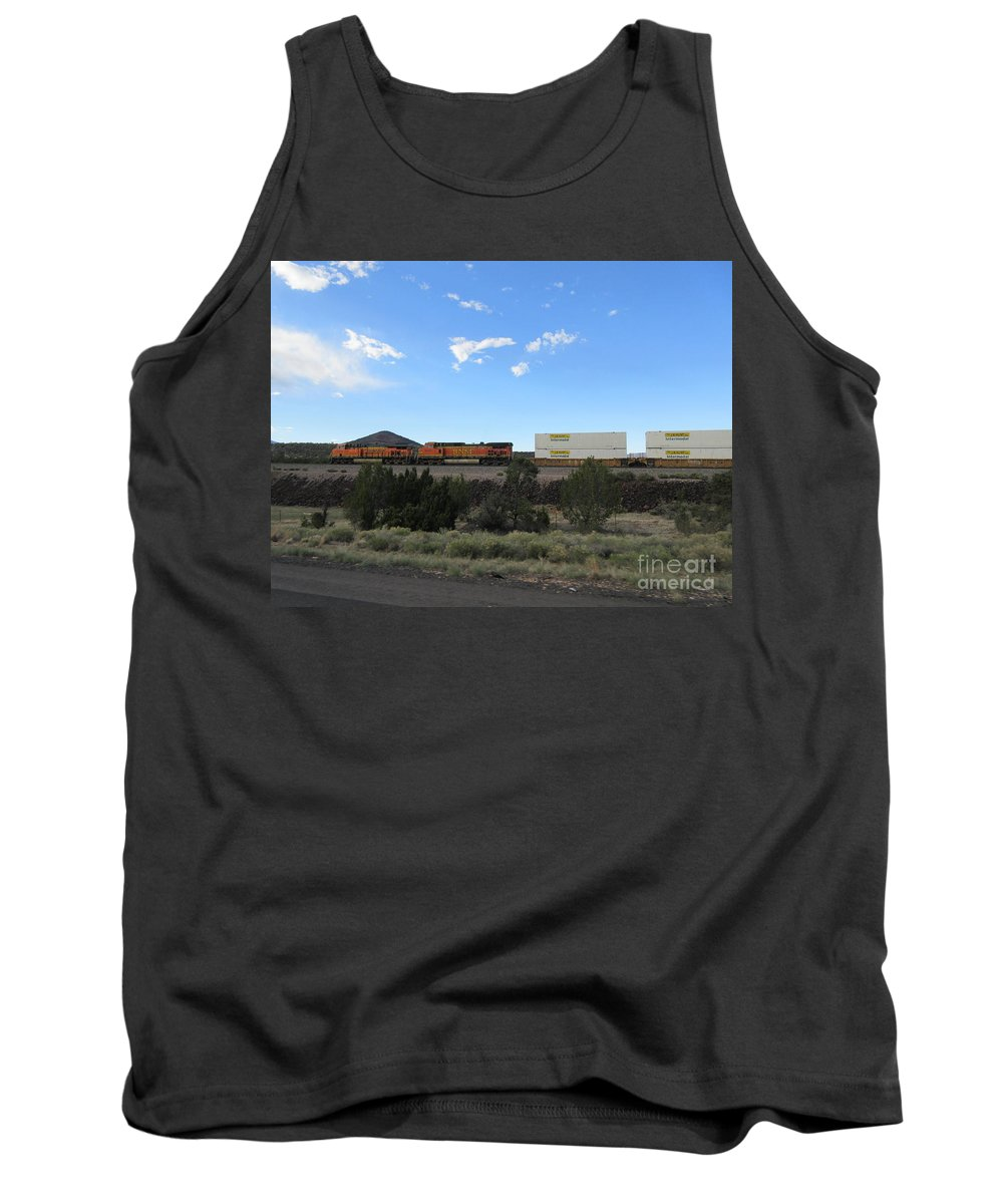 Diesel Tank Top featuring the photograph Diesel Train Engines by Frederick Holiday
