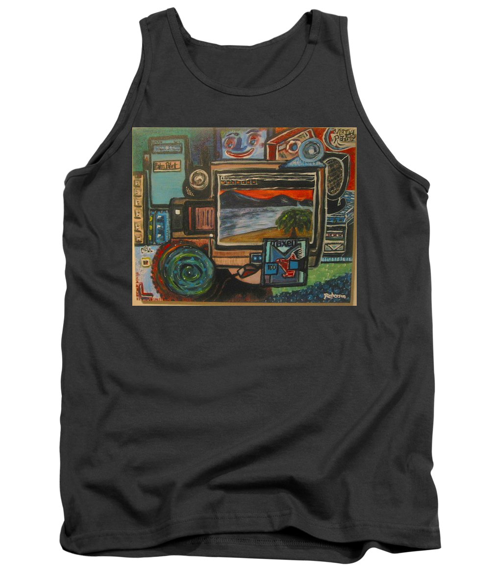 Digital Tank Top featuring the painting Digital Reality by Dawn Richerson