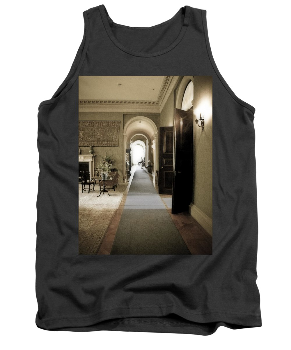 Mansions Tank Top featuring the photograph Dinner Is Serve4d by Karen W Meyer
